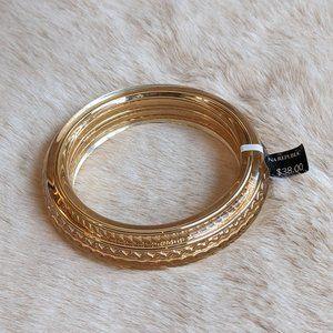Banana Republic Bangle Bracelet Gold NWT
